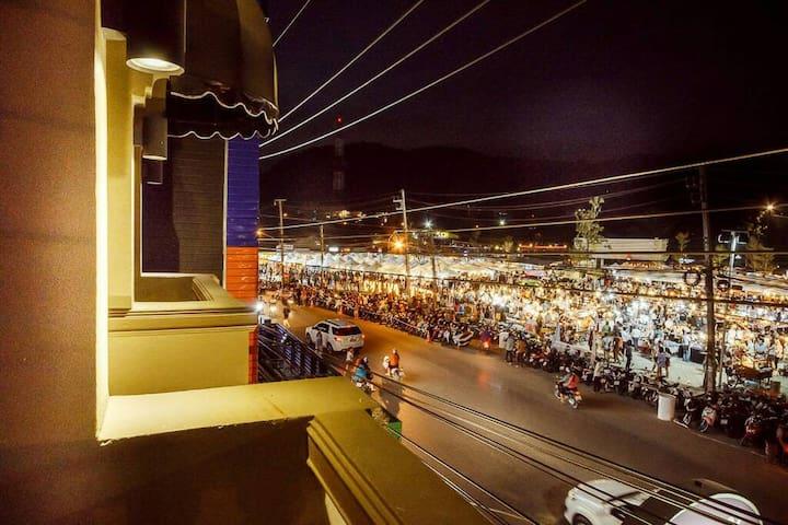 room located opposite Chillva Night Market Phuket Town