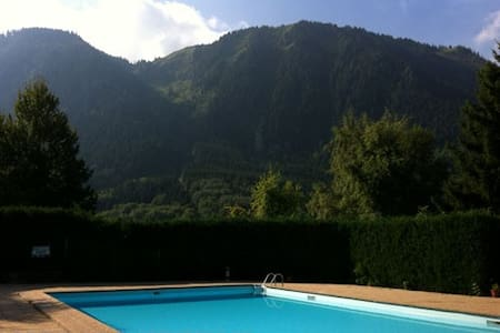 Comfortable apartment in mountains and near lake. - Thollon-les-Mémises - Lejlighed