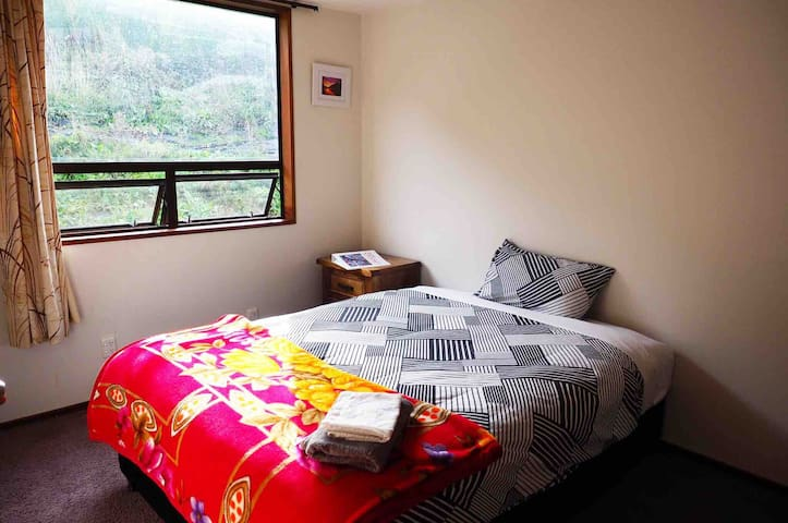 Cosy Hill view room.