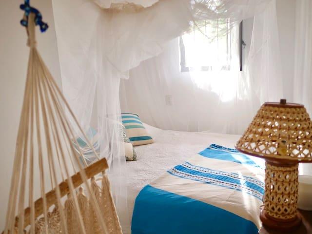 Cozy bedroom with queen bed