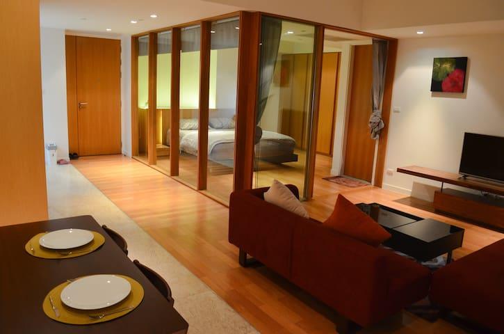 Comfy River Front Luxurious 1BR Studio Near BRT - Yan Nawa  - Apartament