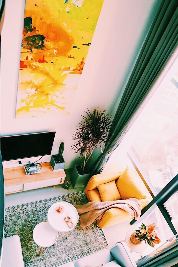 Miss夏五缘湾机场复式loft两房两卫两厅