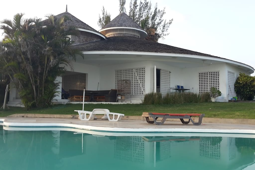 Villa. View from the pool.