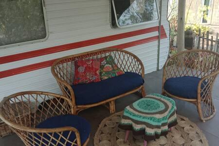 Charming Bohemian Caravan Farm Stay