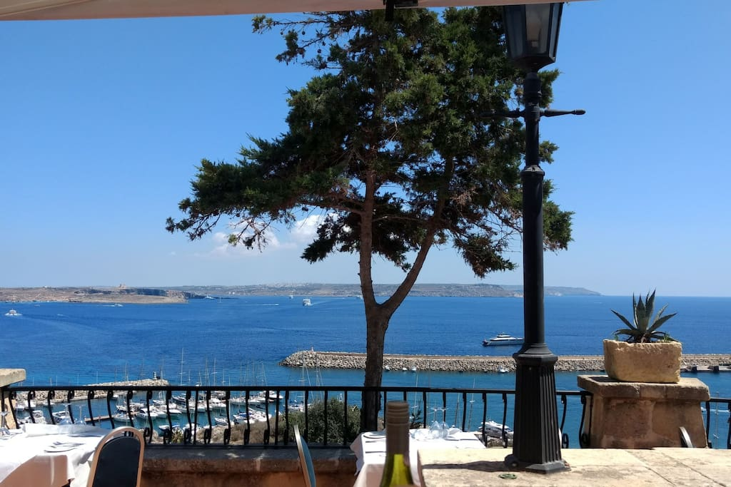 View from the Country Terrace Restaurant in Qala.