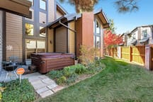 Garden level patio with Spa