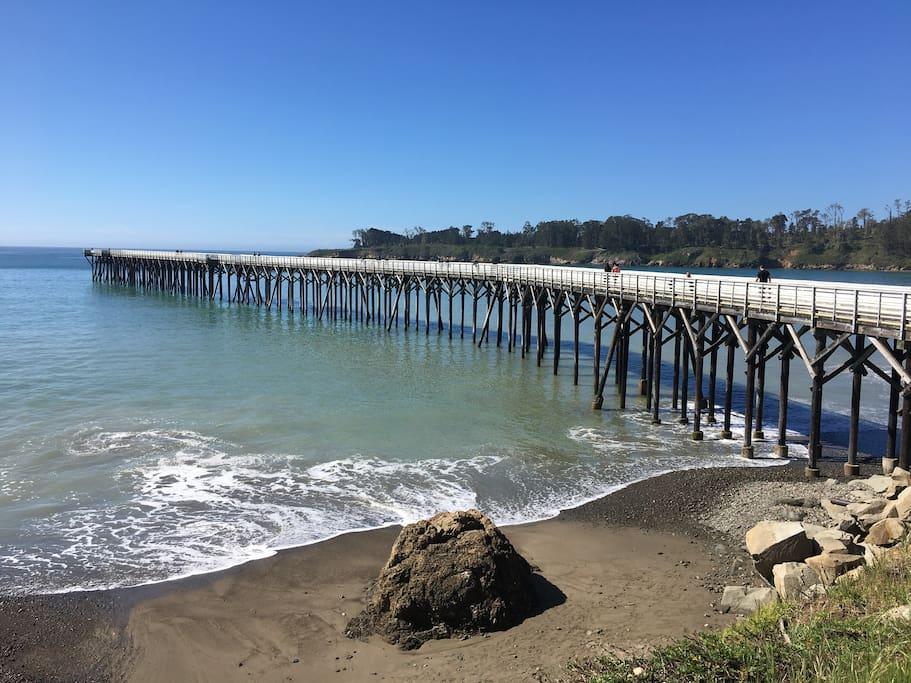 San Simeon state beach minutes away