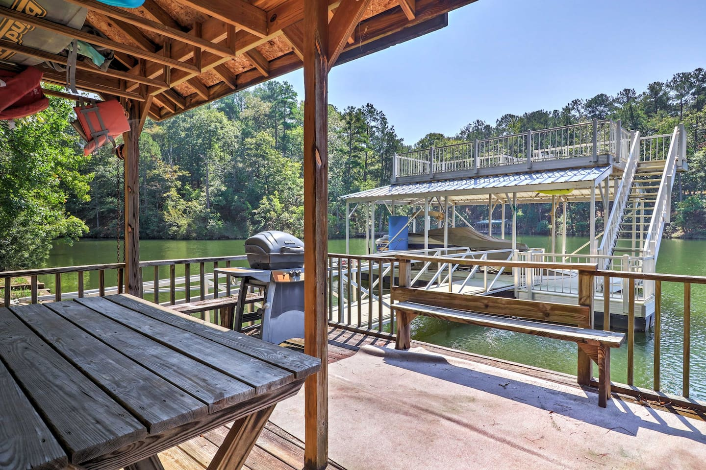 Your water adventures await at this charming 3-bedroom, 2.5-bathroom vacation rental house in Wedowee, Alabama!