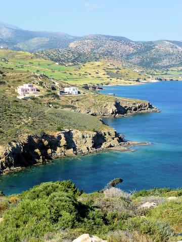 Naxos Edge Resort, Sea Front Villa, direkt am meer - Filoti - Hus