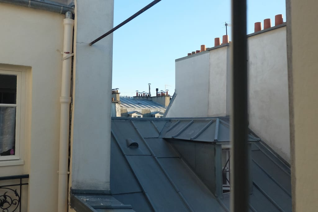 Classic parisian rooftop view from the kichen.