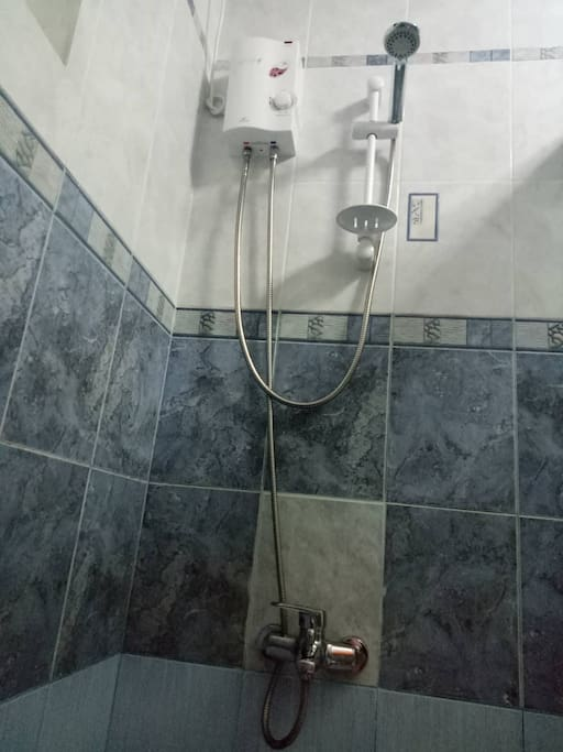 Newly installed hot shower