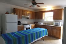 Fully furnished kitchen for exclusive use of guests.  Meals are not included, but can be arranged.