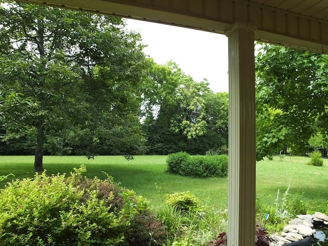 View from any of several rocking chairs on the front porch.