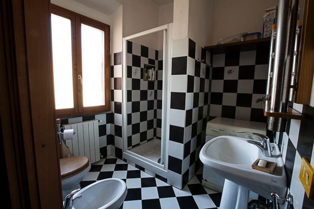 The bathroom.  Il bagno.
