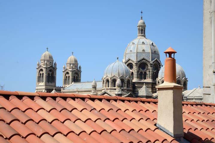 Panier/ Vieux Port T1 quiet CLIM!!! - Marselha - Apartamento