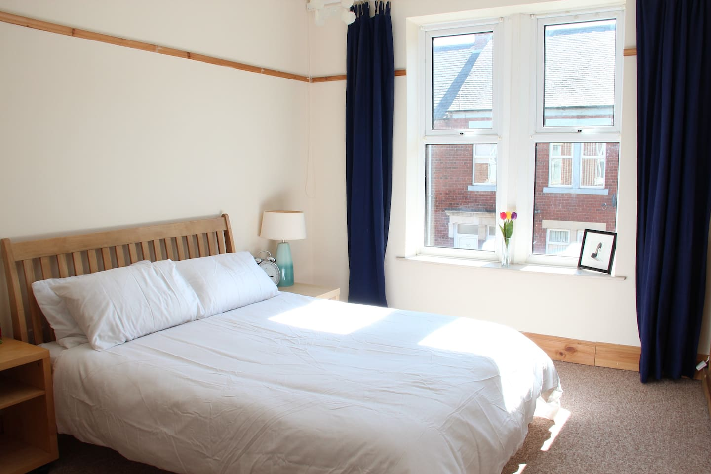 Main bedroom - full of light, extremely quiet and comfortable