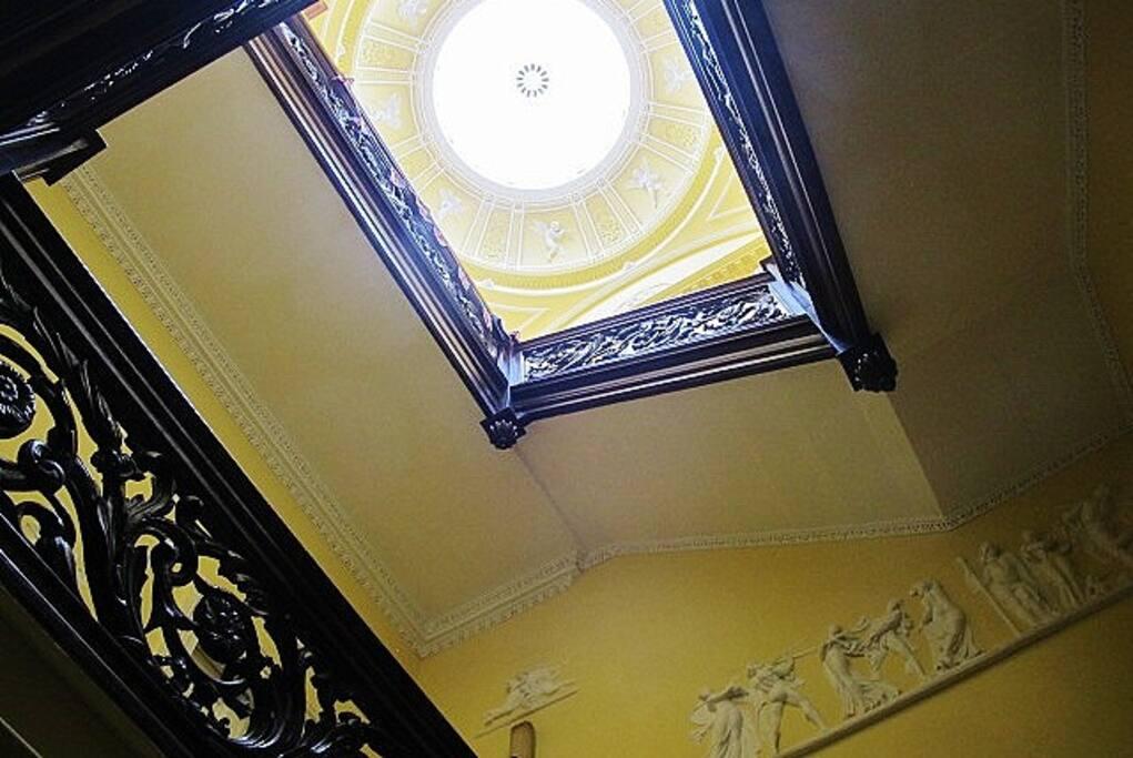 The elegant stairway