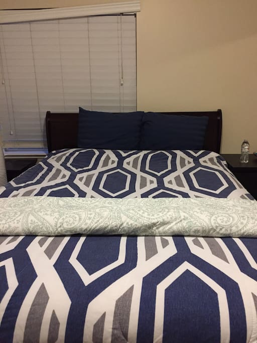 Front view of bed