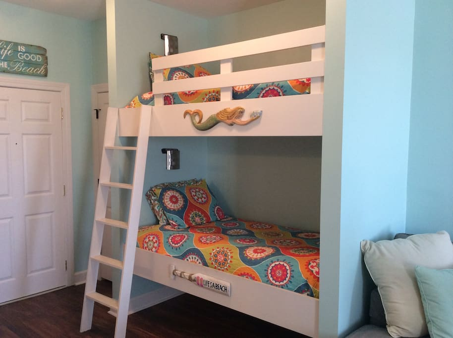 Kids will love these comfortable and private bunks!