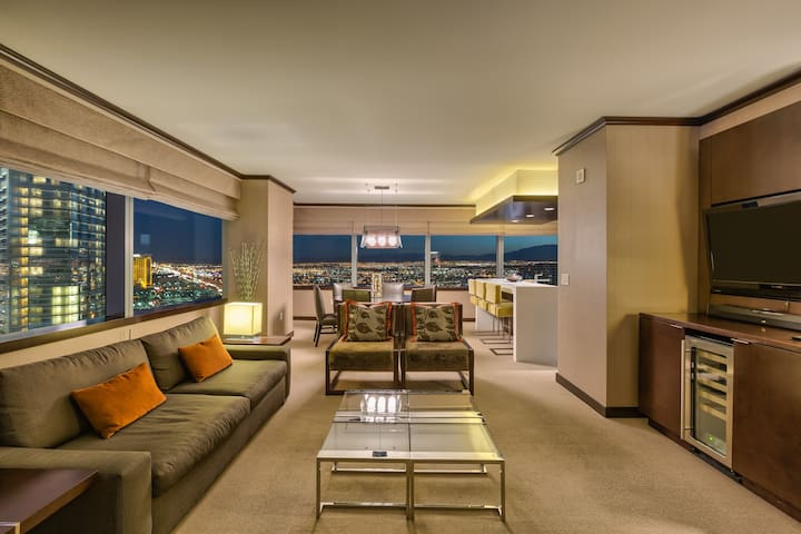 Biggest Vdara Penthouse! 2+BR Stunner Strip Views!