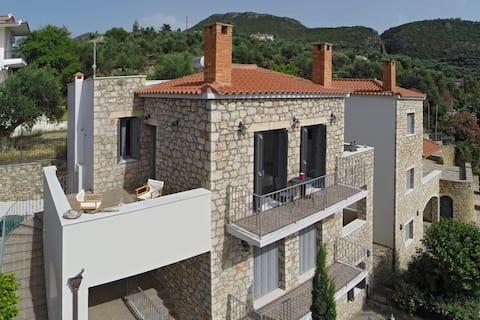 Best sunset - seaview / stone apartment Alcmini
