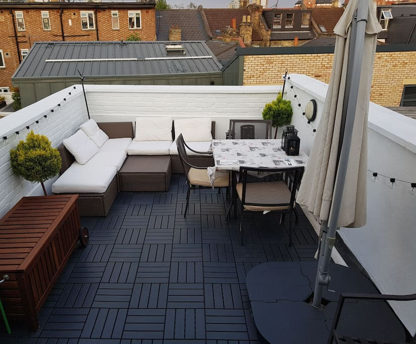 Roof terrace by day