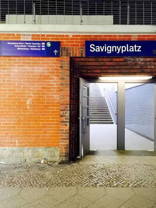 S-Bahn (overground train) station, ca. 20 seconds walking distance from our building. Highly convenient.