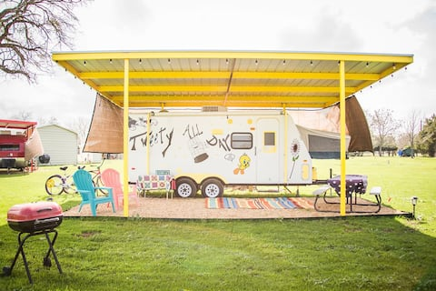 Glamping! Tweety All Day w/pool access