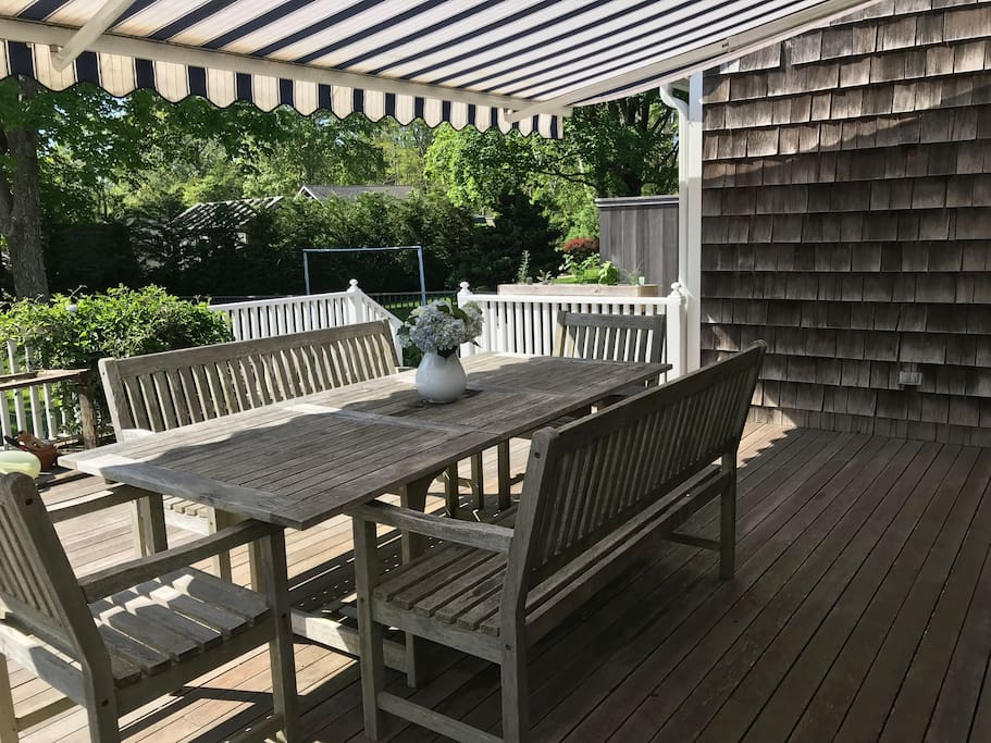 Alfresco Dining on Side Porch