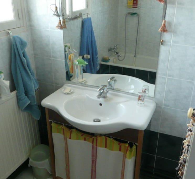 Salle de bain partagée