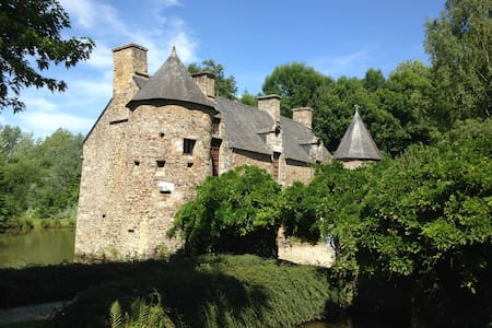 UNE CHAMBRE AU MANOIR: DE 70 A 120€ - Saint-Hilaire-du-Harcouët - 城堡
