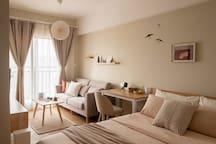 全新装修家具家电,温暖的日式风格,给您带来最舒适的居住体验