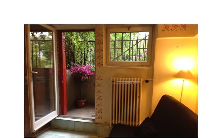 Independent studio flat on garden - Antony - Casa