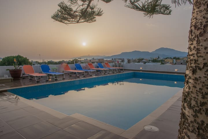 Houmeli Louiza Maisonette Shared Pool amazing view