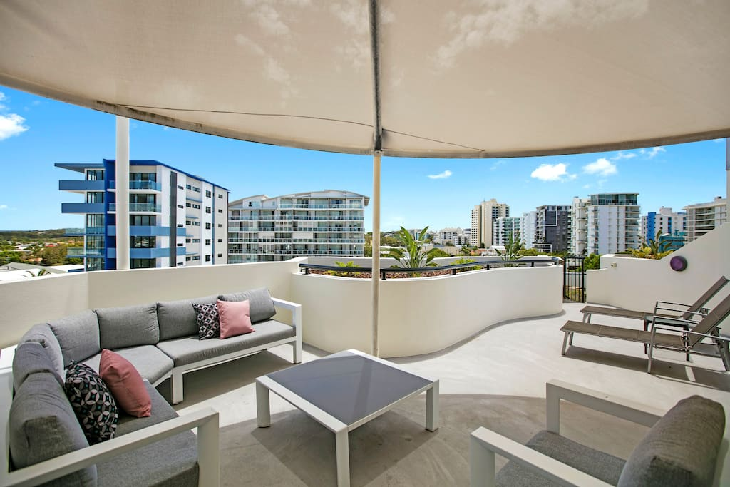 Private rooftop area with BBQ perfect for entertaining