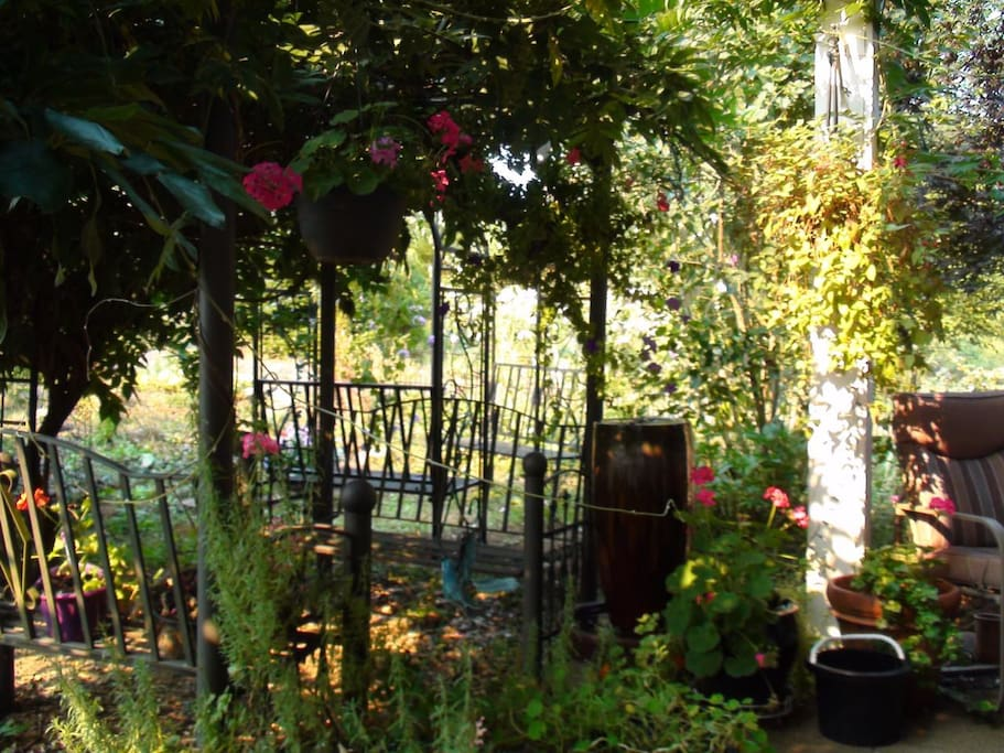 Front Porch Garden ... The view from Cinderella's room