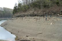our bay when they lowered the lake to repair the dam