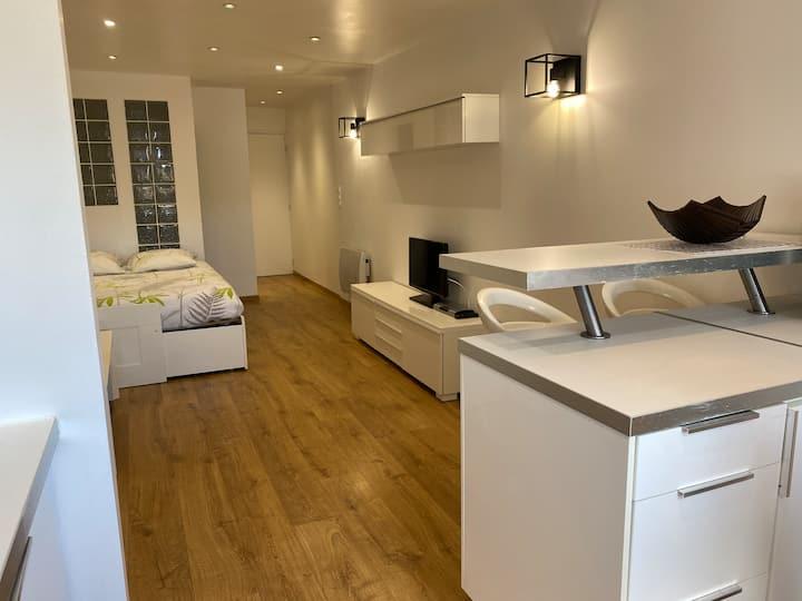 Studio 2 pers 27 M2 vue port St Martin Cap d'Agde