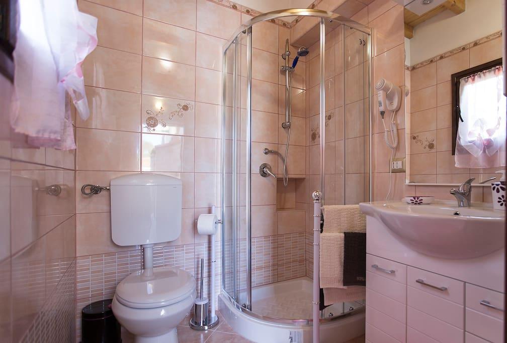 il bagno privato in camera