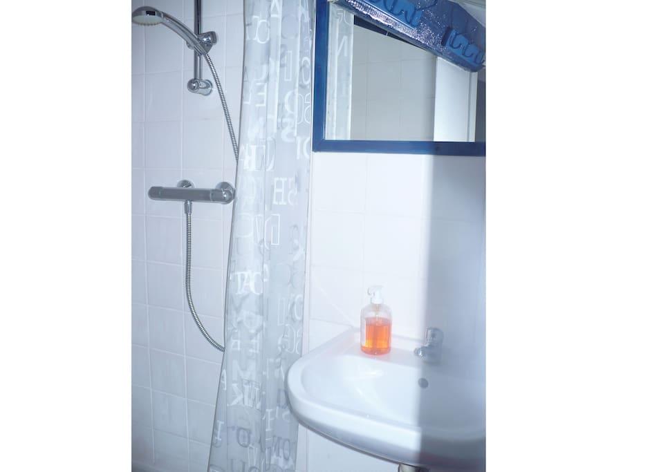 coin douche à létage