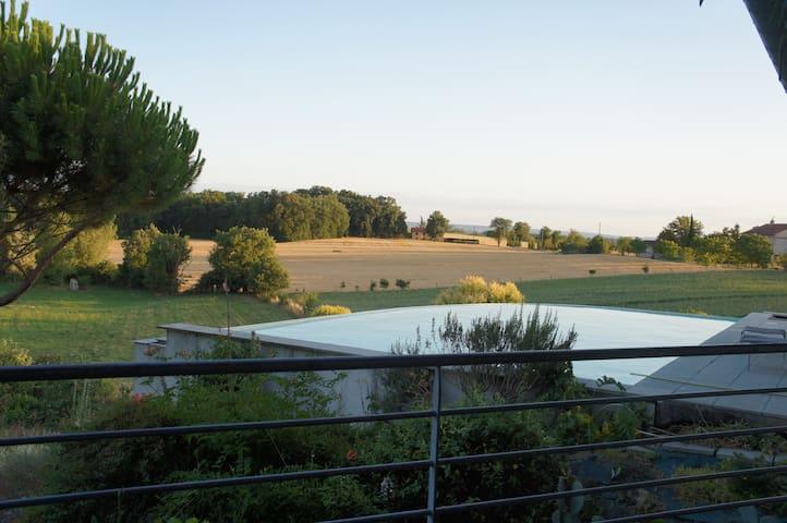 maison d architecte ouverte nature - Poulan-Pouzols