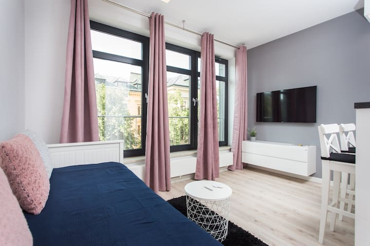 Studio with Air Con, City Center near Main Square
