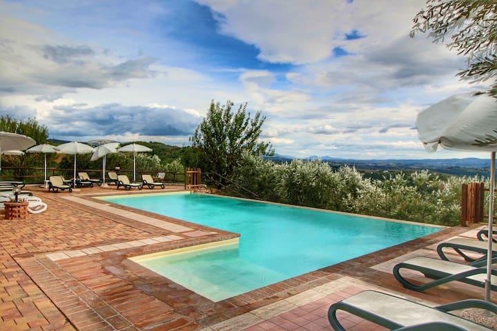 Casa vacanze in campagna con Jacuzzi a Collazzone