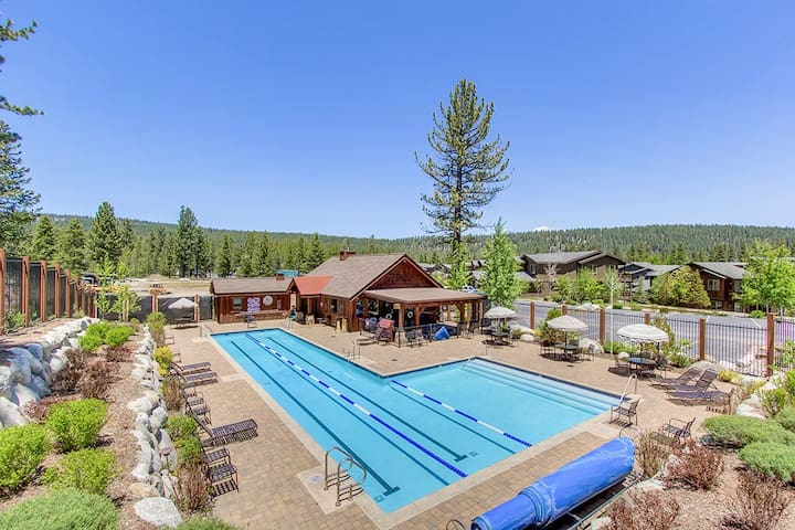 Spend leisurely afternoons by the large, community pool (open in the summer).