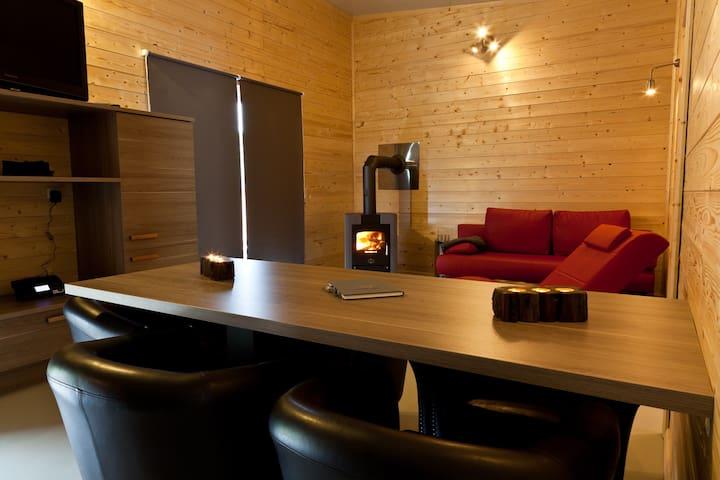 Ferienhaus Heides Hütte 3 am Waldsee Rieden/Eifel - Rieden - Guesthouse