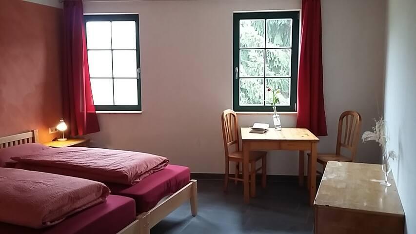 Zimmer 2 des Ziegenhof Schleckweda