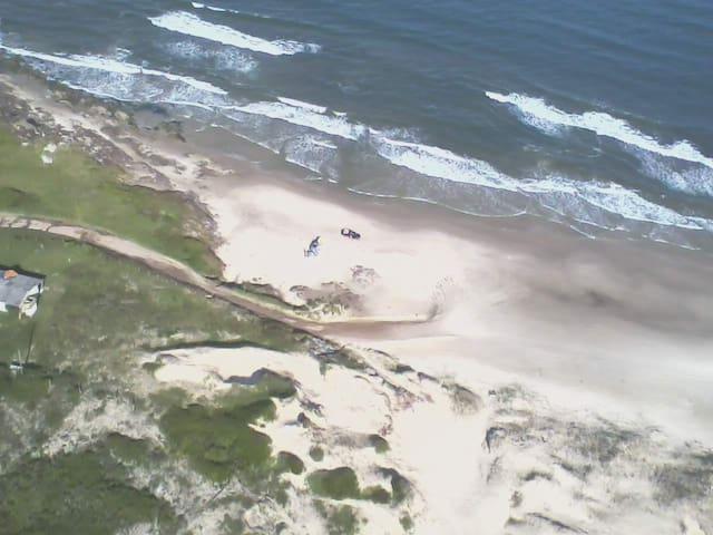 Vista aerea da Praia da Itapeva
