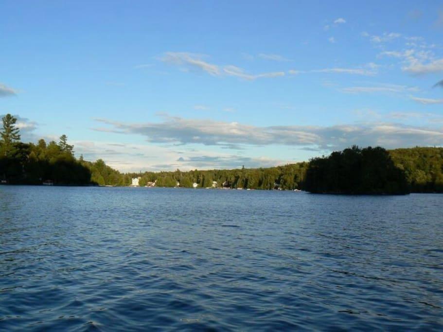 Beautiful Lac Beau Lac. You can swim, fish, canoe, etc.