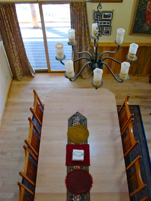 Main House Dining Table from the balcony