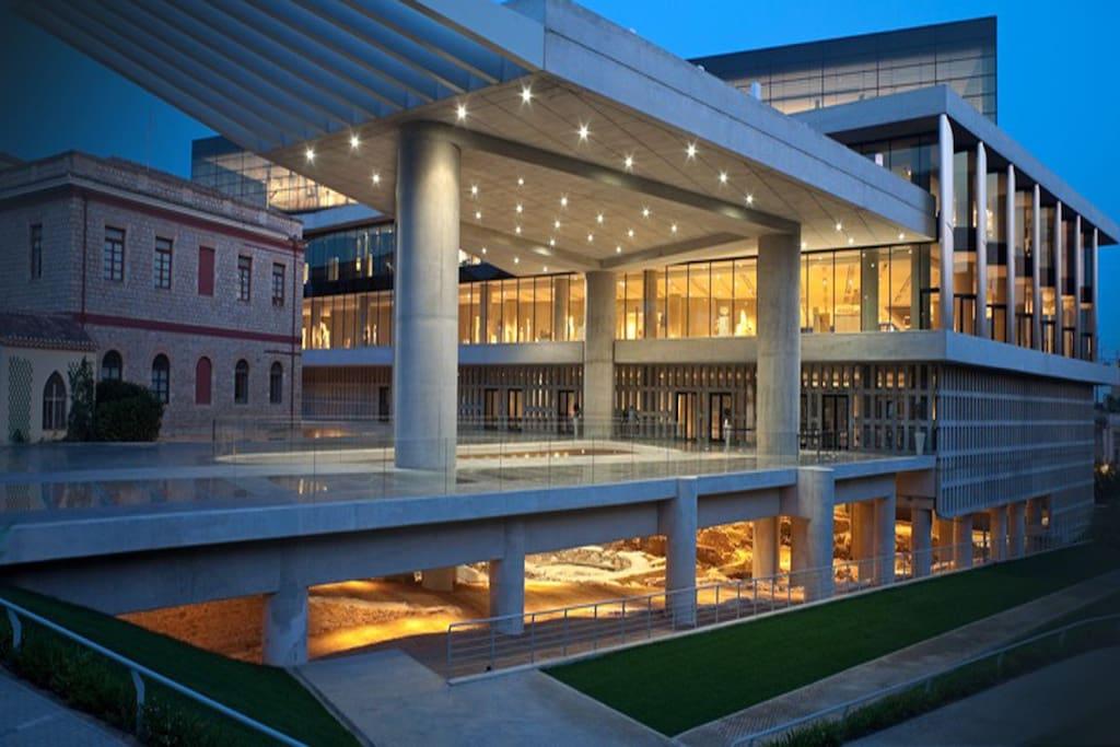 The new Acropolis Museum 2 min walk